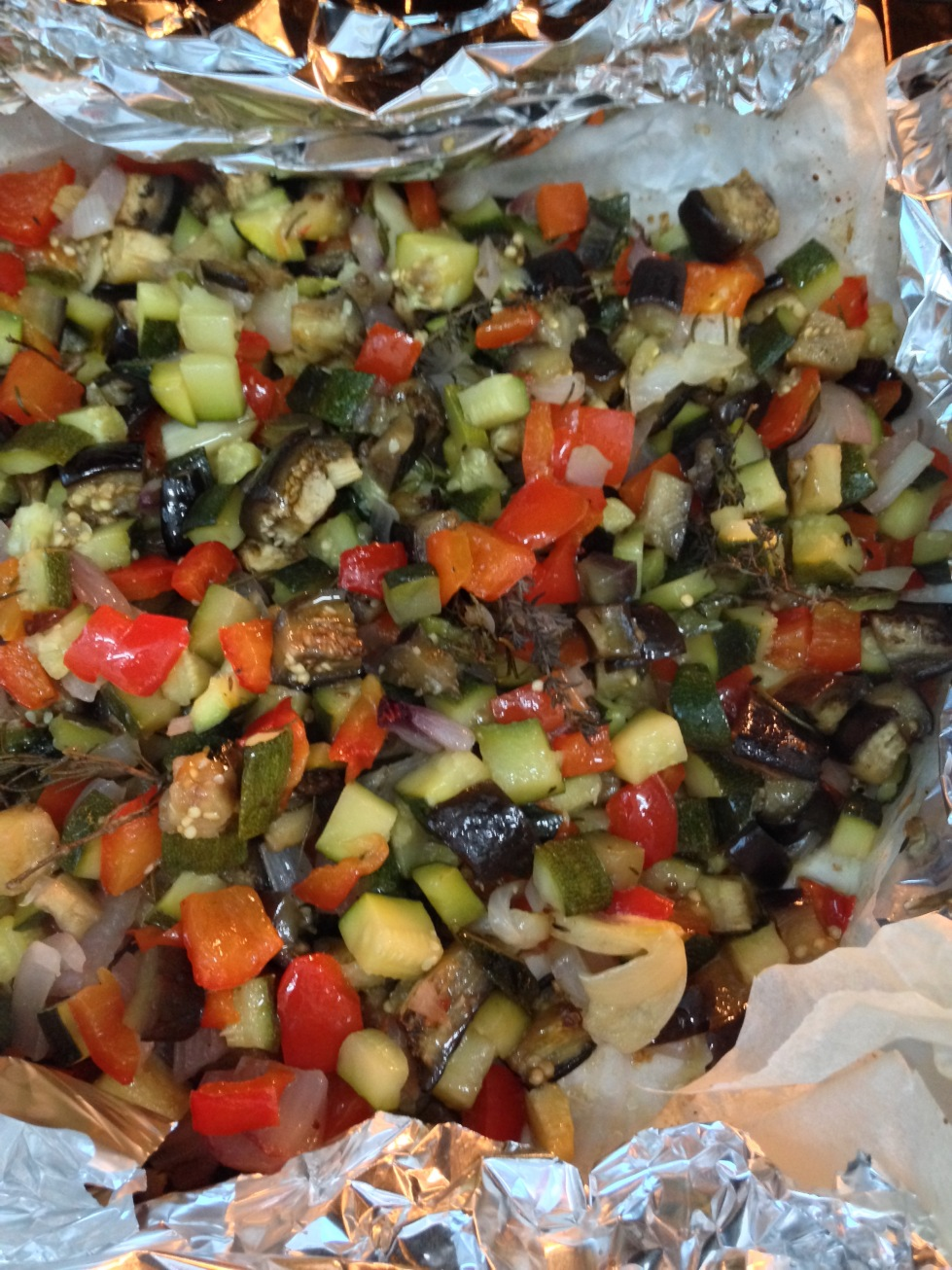 Verdure al cartoccio Baked vegetables